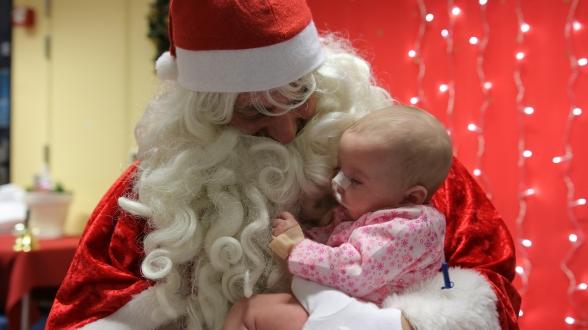 Avec le Père Noël...