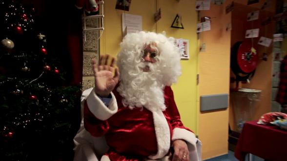 Et voilà celui qu'on attendait tous : le Père Noël en personne !