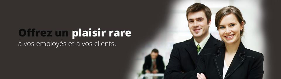 Offrez un plaisir rare à vos emloyés et vos clients